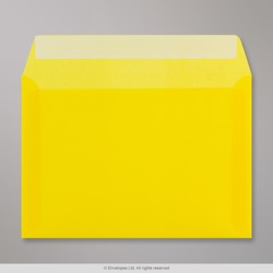 162x229 mm Yellow Translucent Envelope, Yellow, Peel and Seal