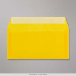 110x220 mm (DL) Yellow Translucent Envelope, Yellow, Peel and Seal