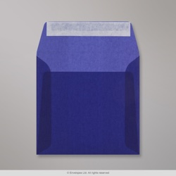 160x160 mm Dark Blue Translucent Envelope, Dark Blue, Peel and Seal