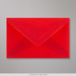62x98 mm Red Translucent Envelope, Red, Gummed