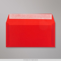 110x220 mm (DL) Red Translucent Envelope, Red, Peel and Seal