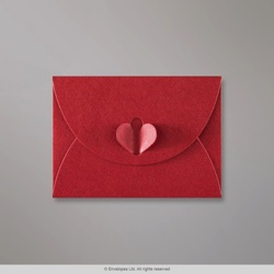 82x113 mm (C7) Cardinal Red Butterfly Envelope