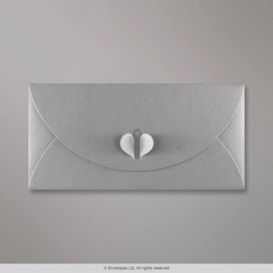 110x220 mm (DL) Silver Butterfly Envelope