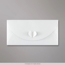 110x220 mm (DL) White Butterfly Envelope