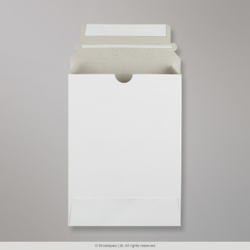 195x136x12 mm White Box Mailer, White, Peel and Seal