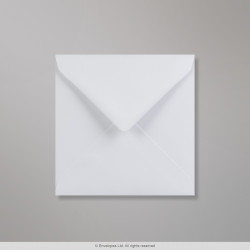130x130 mm White Wove Envelope, White, Gummed