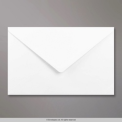158x245 mm White Envelope, White, Gummed
