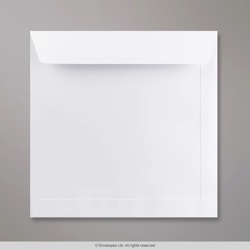 220x220 mm White Envelope, White, Peel and Seal