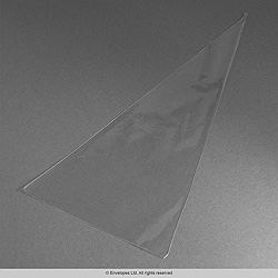 370x180 mm Conical Cello Bag, Clear, Open Top