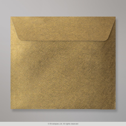 130x130 mm Champagne Green Textured Envelope