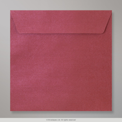 130x130 mm Claret Textured Envelope