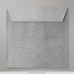 155x155 mm Silver Textured Envelope