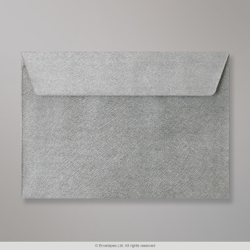 162x229 mm (C5) Silver Textured Envelope