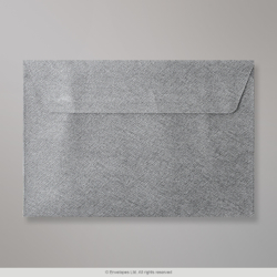 114x162 mm (C6) Mid Grey Textured Envelope