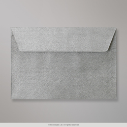 114x162 mm (C6) Silver Textured Envelope