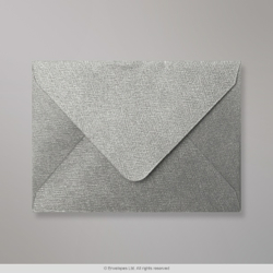 82x113 mm (C7) Silver Textured Envelope