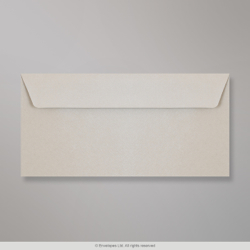110x220 mm (DL) Silver Grey Textured Envelope