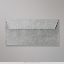 110x220 mm (DL) Silver Textured Envelope