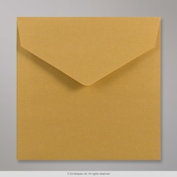 155x155 mm Gold V-flap Peel & Seal Envelope
