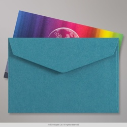 62x94 mm Blue V-flap Peel & Seal Envelope