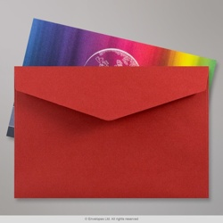 62x94 mm Dark Red V-flap Peel & Seal Envelope