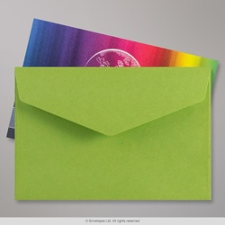 62x94 mm Green V-flap Peel & Seal Envelope