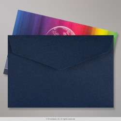 62x94 mm Navy Blue V-flap Peel & Seal Envelope