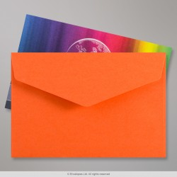 62x94 mm Orange V-flap Peel & Seal Envelope