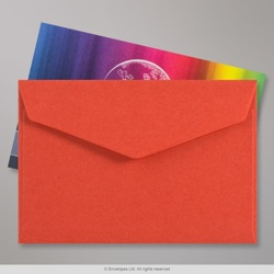 62x94 mm Red V-flap Peel & Seal Envelope