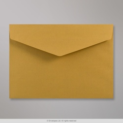162x229 mm (C5) Gold V-flap Peel & Seal Envelope