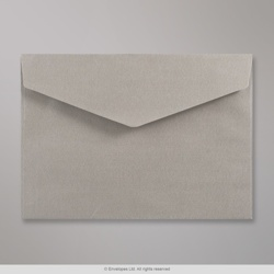 162x229 mm (C5) Silver V-flap Peel & Seal Envelope