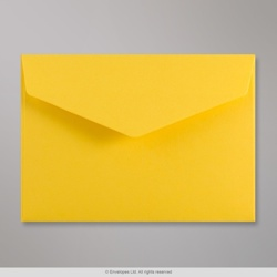 114x162 mm (C6) Dark Yellow V-flap Peel & Seal Envelope