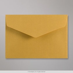 114x162 mm (C6) Gold V-flap Peel & Seal Envelope