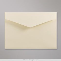 114x162 mm (C6) Ivory V-flap Peel & Seal Envelope