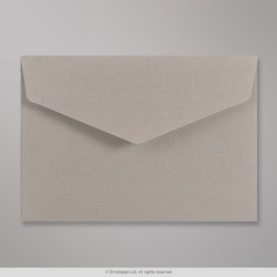 114x162 mm (C6) Silver V-flap Peel & Seal Envelope