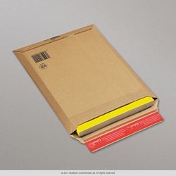 340x250x50 mm Brown Rigid Mailer / Postal Bag