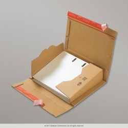 290x320x35-80 mm Manilla Lever Arch Style Packaging Box