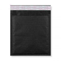165x165 mm Black Kraft Bubble Bag