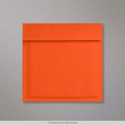 165x165 mm Orange Kraft Bubble Bag