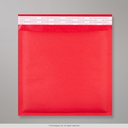 165x165 mm Red Kraft Bubble Bag