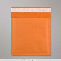 230x230 mm Orange Kraft Bubble Bag