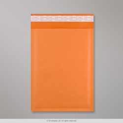 250x180 mm Orange Kraft Bubble Bag