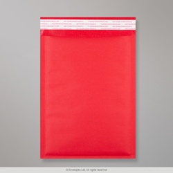 250x180mm Red Kraft Bubble Bag