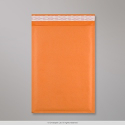 350x250 mm Orange Kraft Bubble Bag