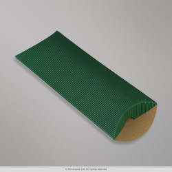 220x110+30 mm (DL) Dark Green Corrugated Pillow Box