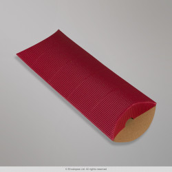 220x110+30 mm (DL) Red Corrugated Pillow Box