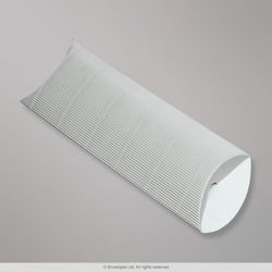 220x110+30 mm (DL) Silver Corrugated Pillow Box