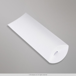 220x110+30 mm (DL) White Corrugated Pillow Box