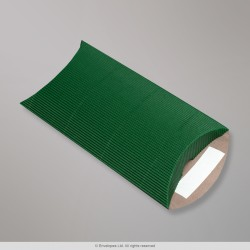 162x114+30 mm (DL) Dark Green Corrugated Pillow Box