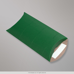 162x114+30 mm (C6) Green Corrugated Pillow Box